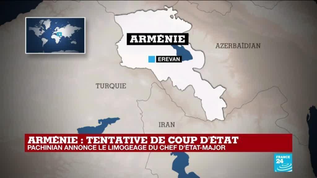 2021-02-25 10:31 Tentative de coup d'État en Arménie : N. Pachinian annonce le limogeage du Chef d'État-Major