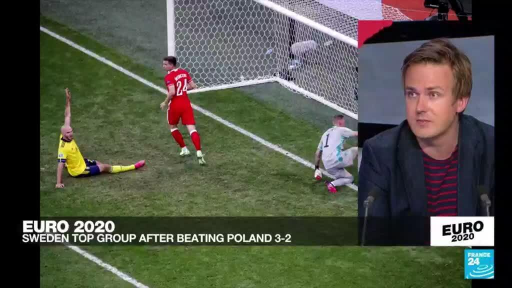 2021-06-23 23:50 Lewandowski, Poland out of Euro 2020 with 3-2 loss to Sweden