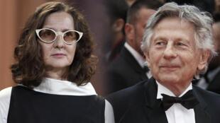 Lucrecia Martel, presidenta del jurado del festival de Venezia y Roman Polanski, director de cine.