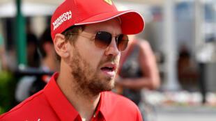 Le pilote allemand Sebastian Vettel (Ferrari) le 30 novembre 2019 à Abou Dabi