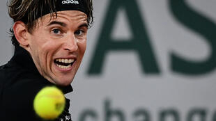 Face of the future: Dominic Thiem on his way to victory over Marin Cilic