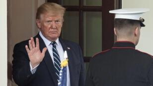 El presidente de Estados Unidos, Donald Trump, se despide del primer ministro canadiense Justin Trudeau en la Casa Blanca en Washington DC, el 20 de junio de 2019.