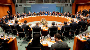 General view of the Libya summit in Berlin, Germany, January 19, 2020.