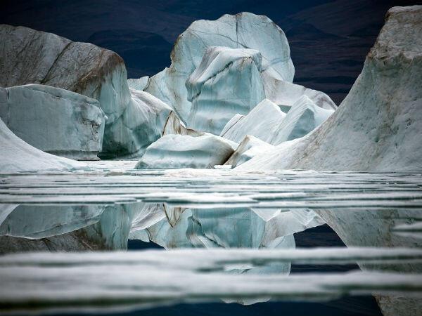 Icebergs, Île d'Ellesmere, Arctique canadien