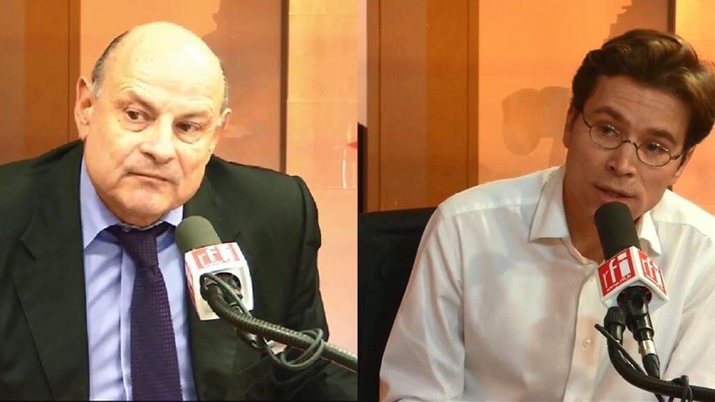 Jean-Marie Le Guen, secrétaire d'État aux relations avec le Parlement, et Geoffroy Didier, secrétaire national de l'UMP, étaient invités de Mardi politique mardi 24 mars 2015.