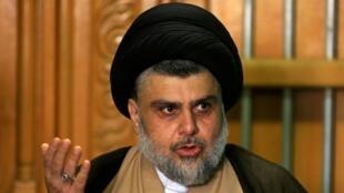 Moqtada al-Sadr speaks during a news conference in Najaf, Iraq May 17, 2018. REUTERSA OK