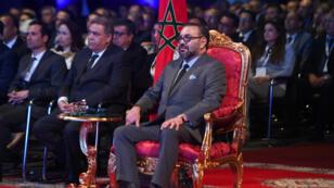ملك المغرب محمد السادس خلال افتتاح مصنع تجميع PSA في القنيطرة - 20 يونيو/حزيران 2019.