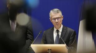 جان فرانسوا ريكار المدعي العام الفرنسي لنيابة مكافحة الإرهاب في مؤتمر صحفي، 5 تشرين الأول/أكتوبر 2019.