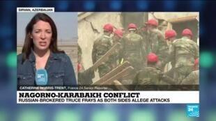 2020-10-12 13:09 Nagorno-Karabakh: Armenia, Azerbaijan report attacks despite cease-fire deal