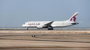 طائرة تابعة للخطوط القطرية في مطار الدوحة في 20 تموز/يوليو 2017