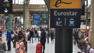 Paris' Gare du Nord railway station on August 14 2020.