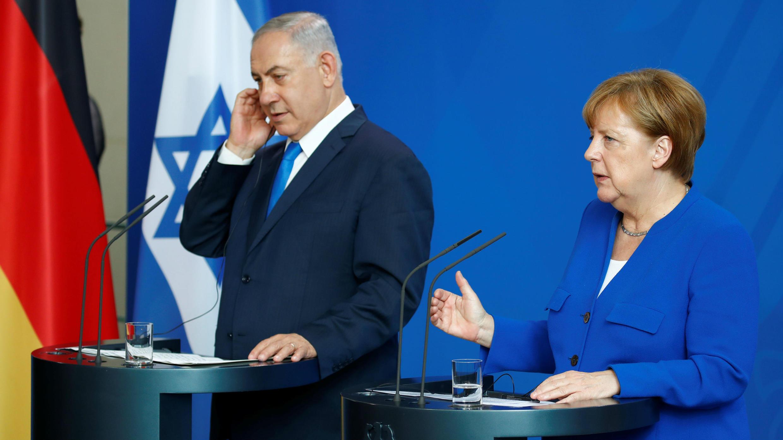 Merkel y Netanyahu se esforzaron por mostrar las sólidas relaciones germano-israelíes pese a las diferencias en cuanto a Irán y la situación en la Franja de Gaza.