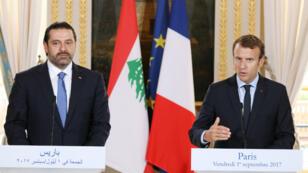 Emmanuel Macron a souhaité, vendredi 1er septembre, la tenue d'une conférence au Liban sur le retour des réfugiés syriens dans leur pays, à l'issue d'une rencontre à Paris avec le Premier ministre libanais Saad Hariri.