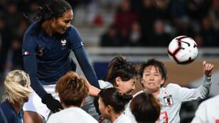 Les Bleues ont dominé le Japon, jeudi 4avril2019 à Auxerre, lors d'un match de préparation à la Coupe du monde féminine de football.
