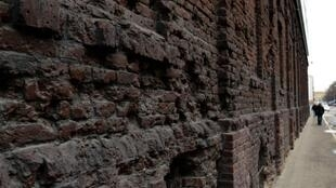 Warsaw's infamous Jewish Ghetto wall (built by the Nazis from 1940 to 1943 during Poland's occupation) is seen on April 11, 2013