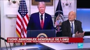 """2020-09-22 16:50 Trump attaque la Chine à l'ONU, confrontée au spectre d'une """"nouvelle guerre froide"""""""