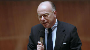 Interior Minister Bernard Cazeneuve answers questions in France's National Assembly on March 17, 2015