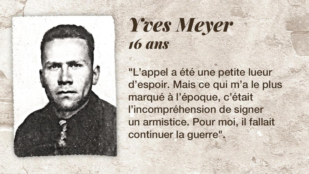 Le résistant Yves Meyer.