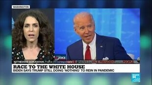 2020-10-16 12:02 Race to the White House: Trump, Biden hold simultaneous televised town halls
