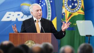 Le président brésilien Michel Temer le 22 mai à Brasilia.
