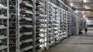 La ferme de minage de bitcoin Bitmain Technologies Ltd. située à Ordos, en Chine.