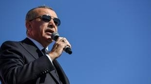 Turkish President Tayyip Erdogan made his remarks in the run-up to municipal elections at the end of the month
