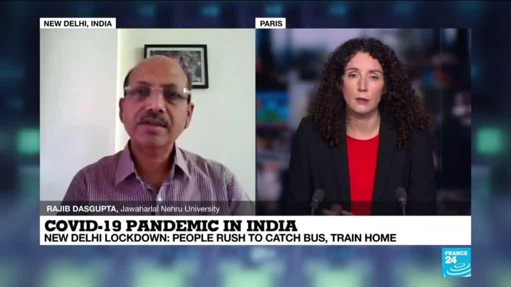 """2021-04-20 14:15 Covid-19 pandemic in India: """"There are deeply disturbing issues about the supply of oxygen"""""""
