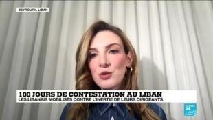 """2020-01-25 14:05 Sara El-Yafi sur France 24: """"Le nouveau gouvernement est probablement voué à l'échec"""""""