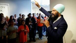 Jagmeet Singh lors d'un meeting à Hamilton, en Ontario le 17 juillet 2017.