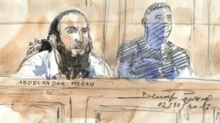 عبد القادر مراح خلال محاكمته - 13 أكتوبر/تشرين الأول 2017
