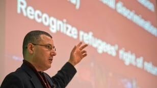 Palestinian activist Omar Barghouti, seen here in 2013, was refused entry by the United States