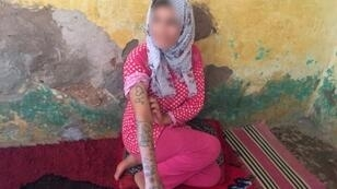 خديجة في قريتها أولاد عياد في منطقة الفقيه بنصالح في 21 أغسطس/آب 2018.