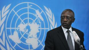 الدبلوماسي السنغالي باباكار غاي في السادس شباط/فبراير 2014 ببانغي