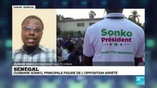 2021-03-03 17:07 Sénégal : Ousmane Sonko, principale figure de l'opposition arrêté