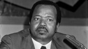 Paul Biya, le 18 décembre 1984, à Brazzaville, au Congo.