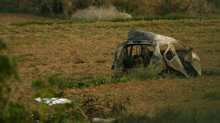 Restos del auto que conducía Daphne Caruana Galizia después de la explosión. 16/10/2017