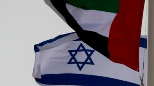 BANDERA EMIRATOS ISRAEL VISITA OFICIAL