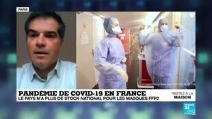 """2020-03-21 16:02 Pénurie de masques : """"On s'est retrouvé en manque par manque d'anticipation"""", estime Olivier Bogillot"""