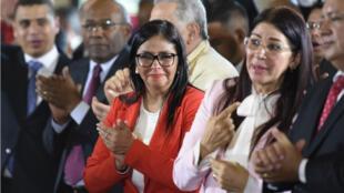 Delcy Rodriguez (au milieu) a été choisie comme présidente de l'Assemblée constituante du Venezuela vendredi 4 août.