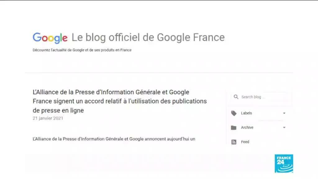 2021-01-21 16:13 Google agrees licensing terms with French newspapers in major deal over Internet copyright