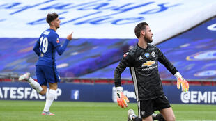 Manchester United goalkeeper David De Gea suffered a Wembley nightmare against Chelsea