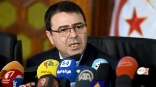 وزير الداخلية التونسي الهادي المجدوب في تونس في 19 كانون الأول/ديسمبر 2016