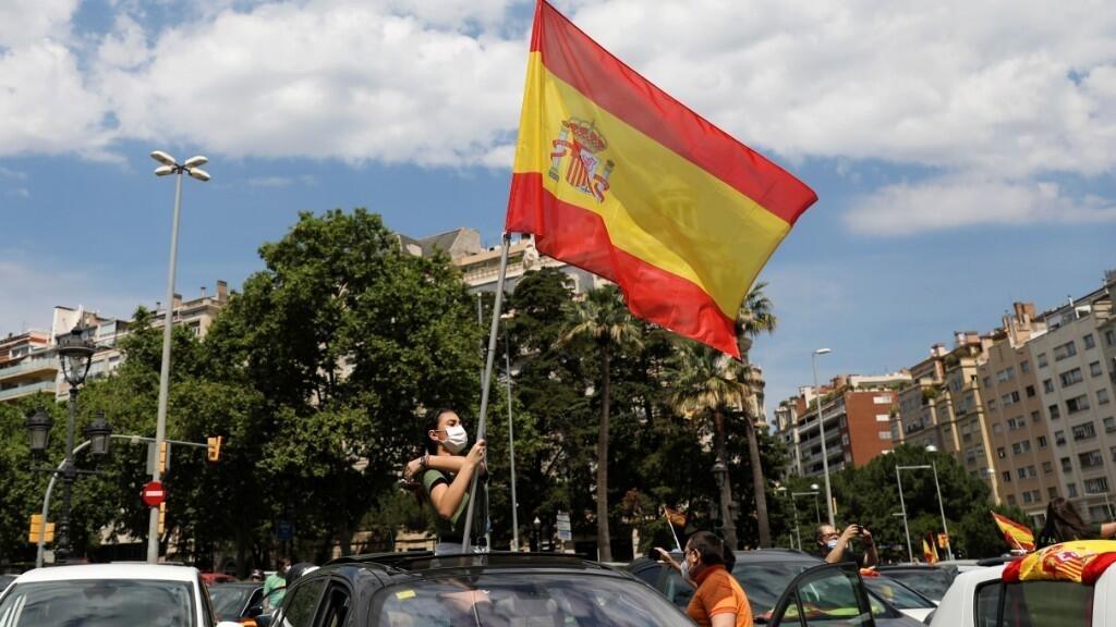 En Espagne, l'extrême droite manifeste pour dénoncer la gestion de la crise du Covid-19