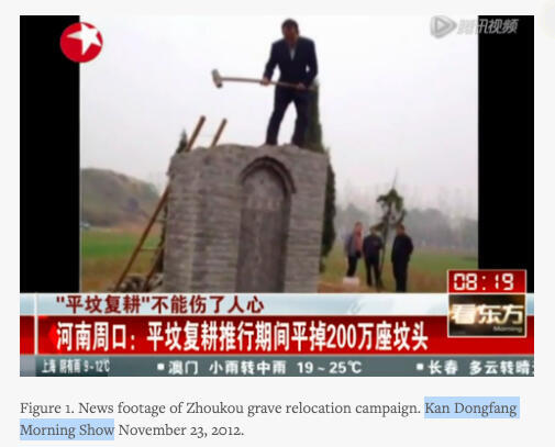 Diversas empresas destruyen cementerios para desarrollar nuevos proyectos.