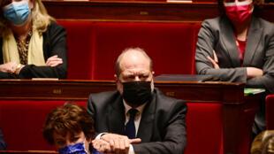 Eric Dupond-Moretti à l'Assemblée nationale le 9 mars 2021