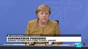 2020-11-26 08:07 Coronavirus pandemic: Germany extends virus curbs to early January