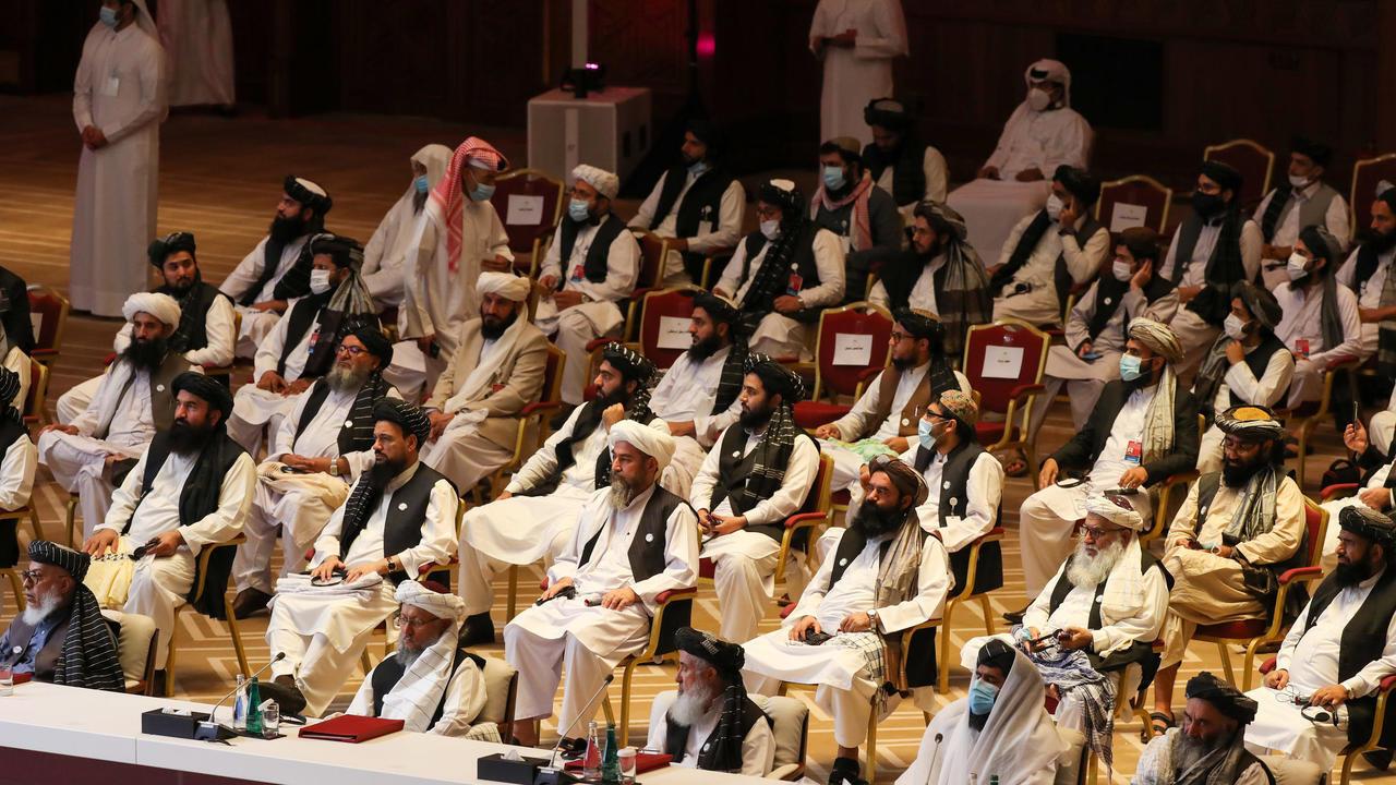 أعضاء وفد طالبان في المحادثات الأفغانية، الدوحة، قطر. 12 سبتمبر/أيلول 2020.
