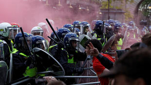 London police face off far right Reuters