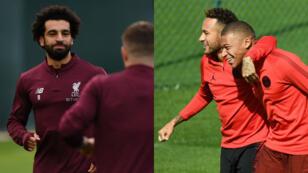 L'attaquant égyptien de Liverpool, Mohamed Salah, et le duo de cracks parisiens Neymar et Kylian Mbappé.