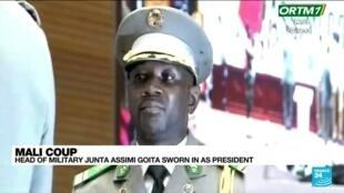 2021-06-07 14:31 Head of military Junta Assimi Goita sworn in as president